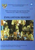 Safer communities through disaster risk reduction (SC-DRR) in development : evaluation report